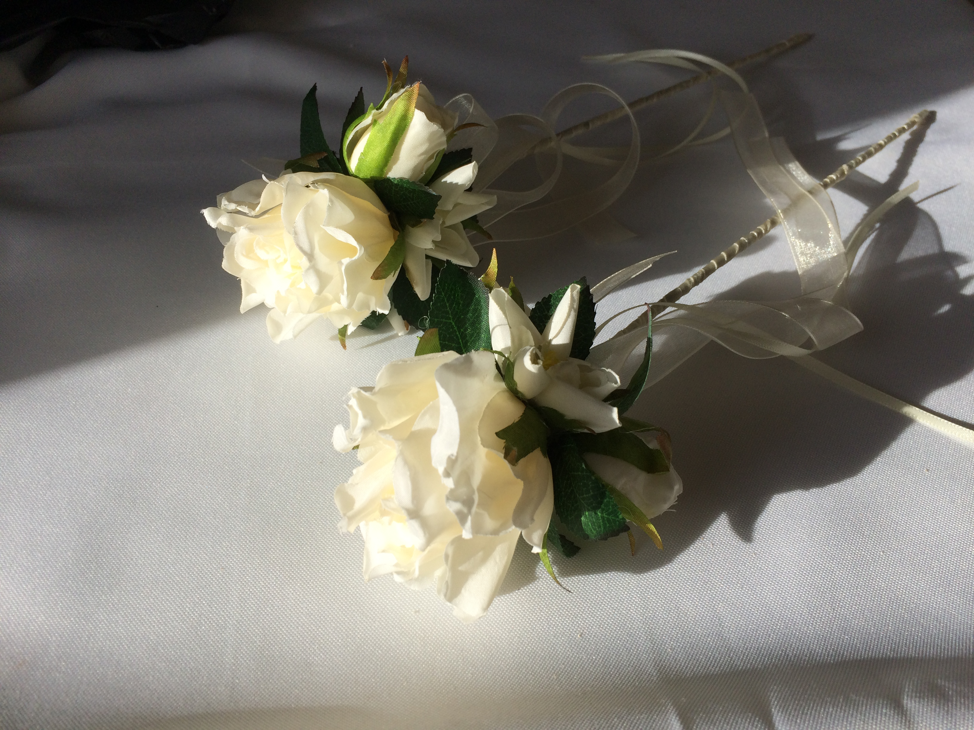 white rose wands