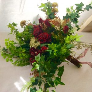 winter wedding silk bouquet red