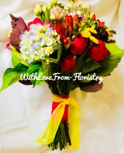 bright colourful bouquet
