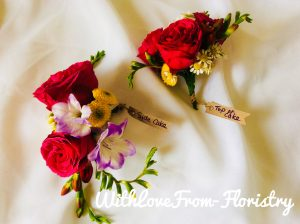 bright colourful buttonholes