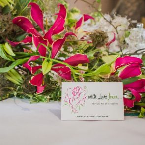 Table centre piece consisting of Gloriosa